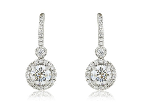 .82 Carat Diamond Drop Earrings