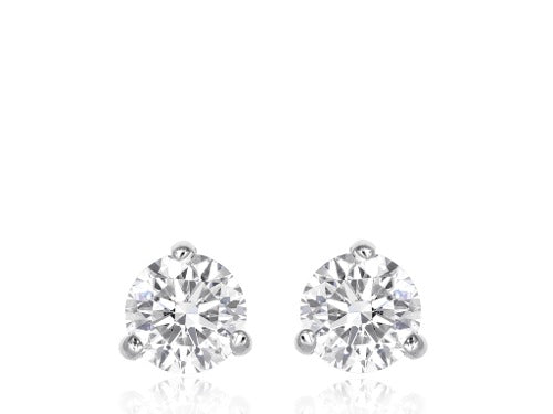3.11ct EF color SI2 Diamond Stud Earrings