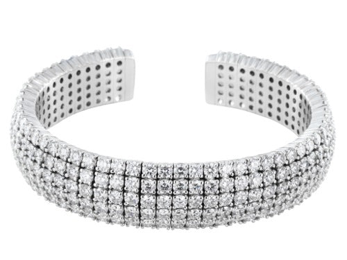 20.77ct Round Brilliant Cut Diamond Cuff Bracelet