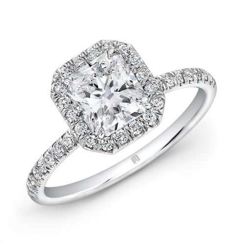 1.55ct GIA H VS2 Radiant Cut Diamond Ring