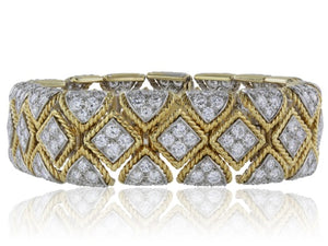 18 kt flexible Diamond 20 carats tw Bracelet