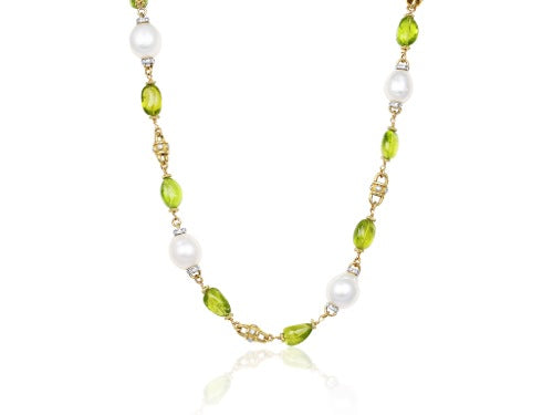 Peridot & Pearl Necklace