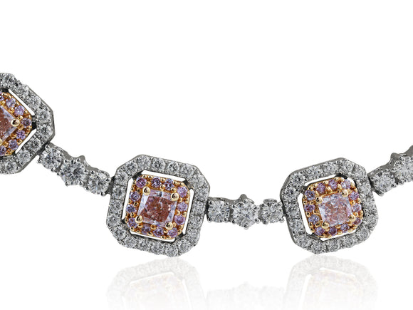 10.45ct Natural Pink Diamond Necklace