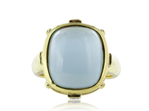 9ct Cabochon Aquamarine Ring