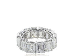 14.35ct Emerald Cut Diamond Band