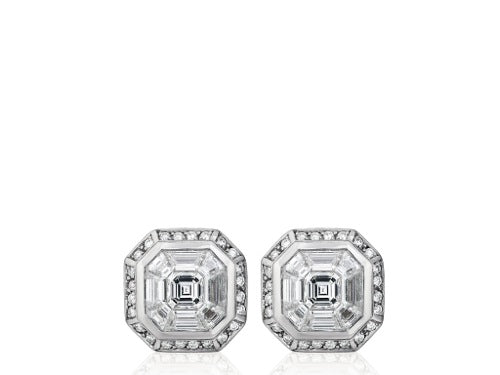 2.24ct Invisible Set Diamond Earrings