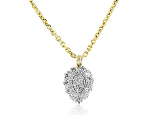 1.50ct Diamond Estate Pendant