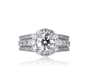 1.01ct Round Brilliant Cut Diamond Halo Ring