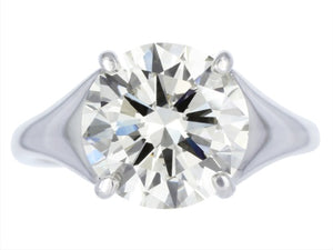 3.34ct K/VS1 Round Brilliant Diamond Solitaire Engagement Ring
