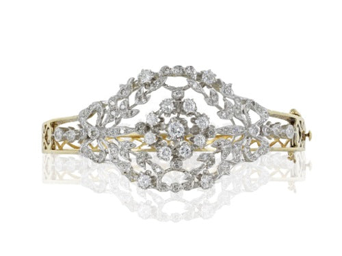 Estate Diamond Bangle Bracelet