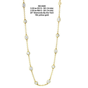 7.60 ct Diamond By the Yard Necklace