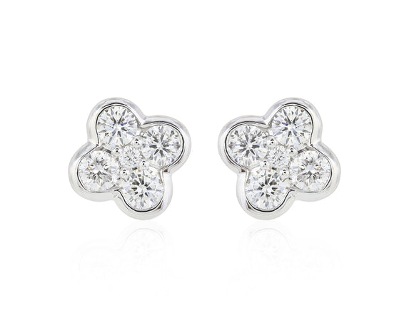 .50ct Clover Diamond Stud Earrings