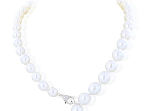 South Sea Pearl Tassel Necklace with Diamond Lariat