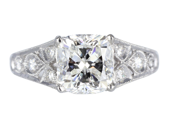 1.75ct H/VS2 Cushion Cut Diamond Ring