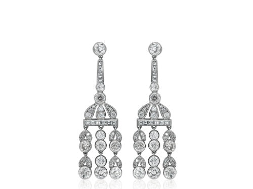 Old European Cut Diamond Vintage Style Earrings