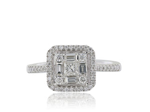 1.25ct Diamond Cluster Ring
