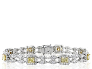 2.45ct Canary Diamond Bracelet
