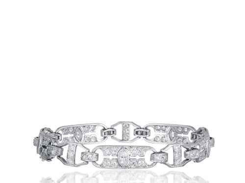 5.50ct Art Deco Diamond Bracelet
