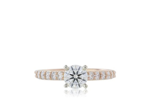GIA Certified .88ct F/VS2 Round Brilliant Cut Engagement Ring