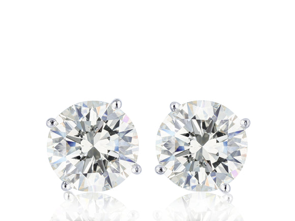 14KT White Gold 3.01 Carat Diamond Stud Earrings