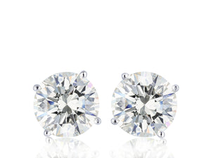 14KT White Gold 2.03 Carat Diamond Stud Earrings