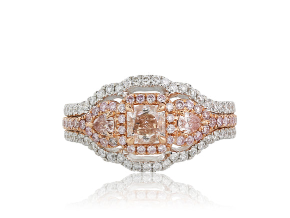 .47 Pink Diamond Halo Ring