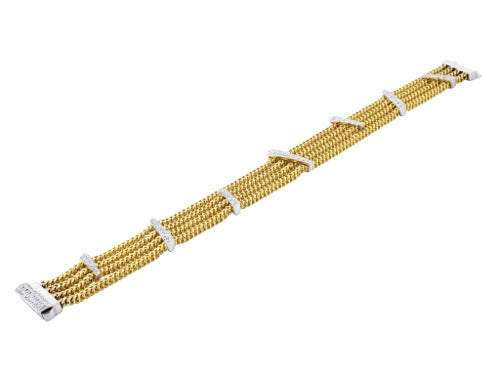 14KTT Chain & 1.00ctw Diamond Bracelet
