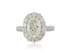 3.00ct H VS1 Oval Diamond Cluster Ring