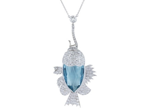 21.50ct Aqua Fish Necklace