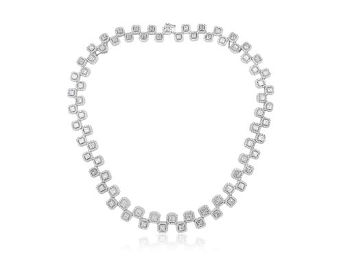 27.69ct Asscher Cut Diamond Necklace