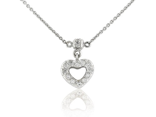 Diamond Open Heart Pendant