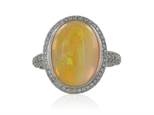 6ct Opal Diamond Ring