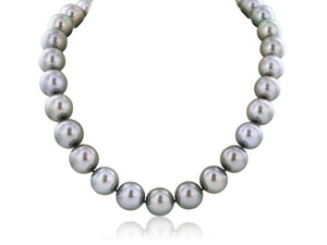 13-17MM 36 Inch Tahitian Grey Pearl Necklace