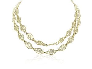 18k Yellow Gold Double Strand Necklace
