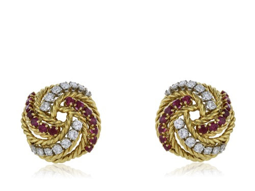 Boucheron Ruby & Diamond Earring