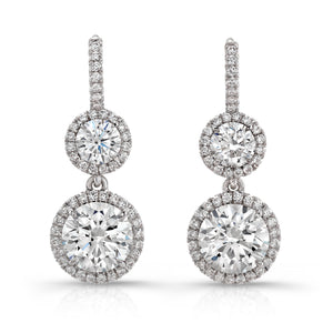 18KT WG 2.49CT H-I VS2-SI1 Diamond Drop Earrings