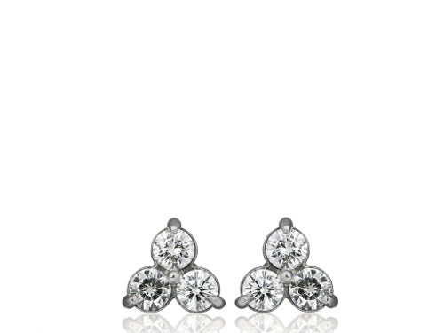 1.22ct Diamond Cluster Earrings