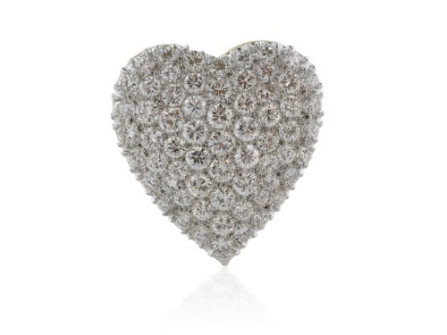 3.84 Carat Diamond Pave Heart Pendant/Enhancer