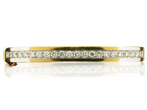 1.76ct Round Brilliant Cut Diamond Bangle Bracelet