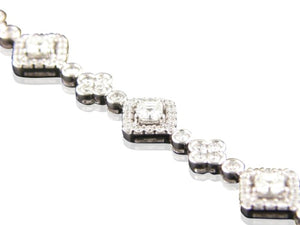 4.88ctw Asscher Cut & Round Brilliant Cut Diamond Bracelet