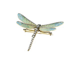 18kt Dragon Fly Pin 1.20 ct Diamonds