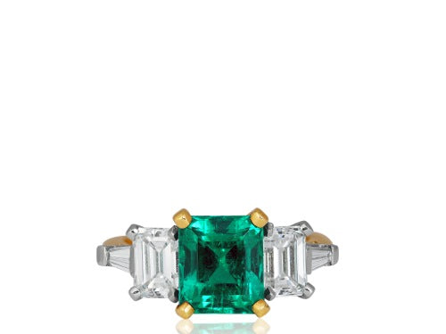 2.44ct Colombian Emerald Ring