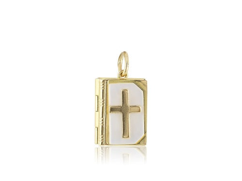 14KT Yellow Gold Prayer Book Charm