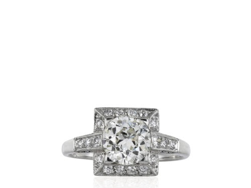 1.54ct Art Deco Style Diamond Ring