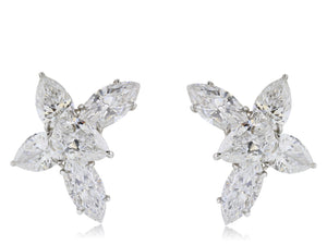 13.06 ct Fancy Shaped GIA  Diamond Earrings