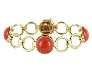 Coral Open Link Estate Braclet