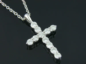1.35ct Diamond Cross Pendant