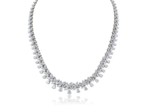 18 kt Diamond 25 cts TW) Collar Necklace