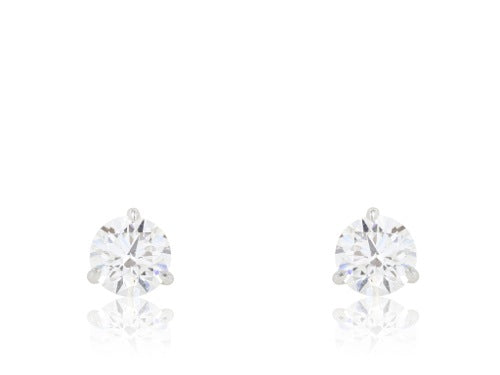18kt WG GIA J, SI1 2.47ct Diamond Studs