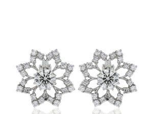 1.61ct Diamond Snowflake Earrings